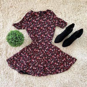 🆕 floral short sleeve mini dress